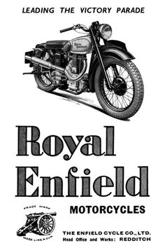 Royal Enfield Motorcycles old poster
