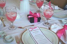 Ideas for an American Girl tea party!