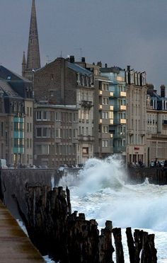 Saint-Malo in the storm, Brittany, France