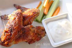 Skinny Buffalo Wings #buffalowing #skinny #chicken #buffalo #appetizer #superbowl #fingerfood