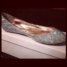 Crystal wedding flats.... Wedding hell I want these for everyday!