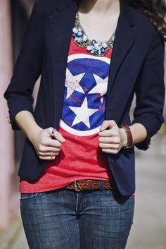 Tennessee flag shirt. Holy crap I really really want this.
