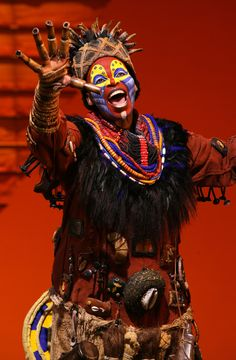 """The irrepressible Rafiki from """"The Lion King"""" on Broadway.  I was lucky enough to see most of the Broadway cast at the Landmark Theater.  Amazing!"""