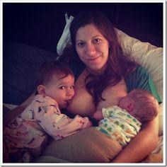 Beautiful birth story and tandem #breastfeeding photos from @joyfulabode.