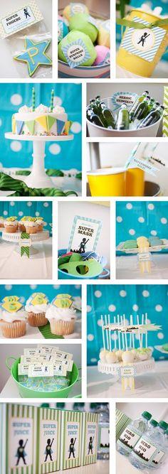 Superhero party color schemes, birthday parties, baby first birthday, cake bunt, 5th birthday, green baby party birthday, first birthdays, cake stand, birthday ideas