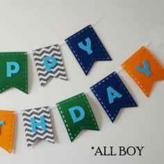 Happy Birthday Felt Banners