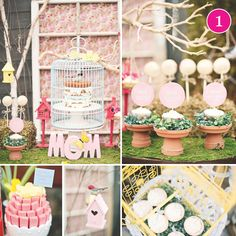 {Party of 5} Mother's Day, Beach Baby Shower, Pink & Green, Spring Dessert Table, Mickey Birthday Party