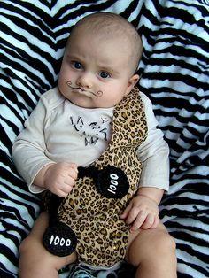 DIY Strongman Halloween costume for babies. Laughing!