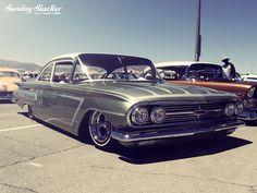 1960 Chevy - Rod reunion at the Las Vegas Motorspeedway. Photo by Gabe for Sunday Slacker Magazine
