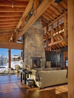 Yellowstone Club Residence by Krannitz Gehl Architects.  Similar reclaimed wood available at www.icssdesign.com  #reclaimedwood