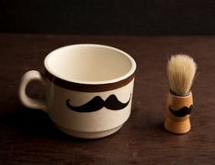 Shaving Set Mustache Shaving Mug and Shaving by WoodsandTaylor