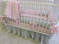 Crib Bedding MADE TO ORDER Baby Bedding. $389.00, via Etsy.