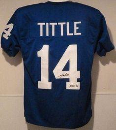 "Ya Tittle Autographed/signed New York Giants Poly Jersey W/""hof 71"" Insc - Autographed NFL Jerseys by Sports Memorabilia. $133.59. YA TITTLE AUTOGRAPHED/SIGNED NEW YORK GIANTS POLY JERSEY W/""HOF 71"" INSC"