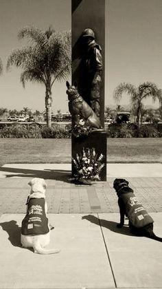 M Canines visit War Dog Memorial