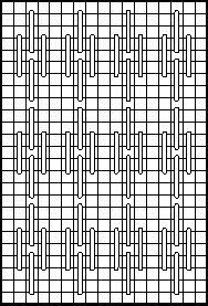 Small Phi Half Drop Decorative Stitch Diagram 1