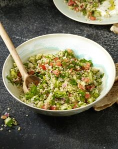 Healthy Quinoa Tabbouleh recipe. Pin now, check later.