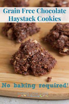 No Bake Grain Free Haystack Cookies