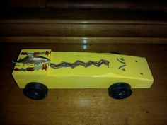 pine wood derby car yellow