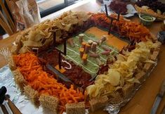 football inspired appetizers | Football Appetizers Shaped Like A Stadium