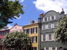 Rainbow Row is one of the most-photographed areas in Charleston. >> http://www.frontdoor.com/buy/popular-landmarks-and-attractions-in-charleston-south-carolina/pictures/pg64?soc=dhpp