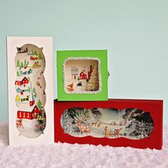 DIY Christmas diorama boxes. Kitschy & cute!
