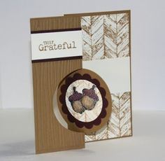 Stampin' Up! Truly Grateful Flip card; Thinlits