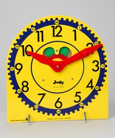 Learn to tell time with the Original Judy Clock on #zulily
