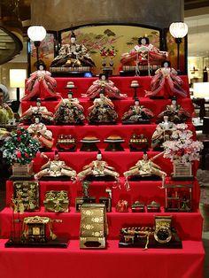 Hina doll display - Hina-matsuri Japan