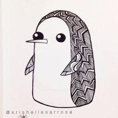gunter, penguin drawing