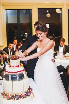 Cheese wheel wedding cake...