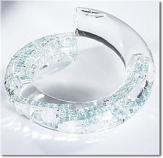 "Pamina London - bracelet ""transparent acrylic bangles filled with smashed bottle glass"""