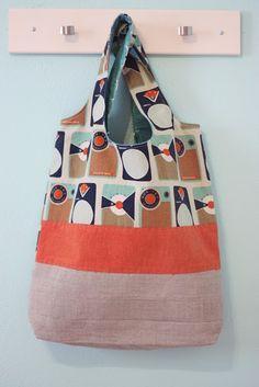 wrap it up bag, hand stitching, inside pocket