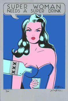 super woman, wonder women, art, vodka, superwoman, super drink, niagara detroit, drinks, super women