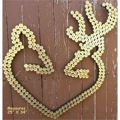 @Jennifer Milsaps Titus Earles  Buck & Doe Heart Shotgun Shell Wall Decor