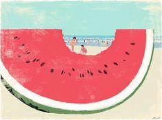Book Travelers by Tatsuro Kiuchi, via Behance
