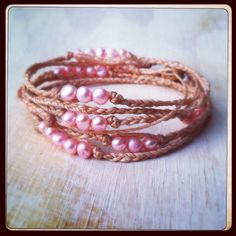 Pretty in pink pearl wrap