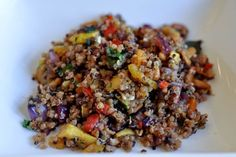 Grilled vegetables with quinoa, pine nuts and feta (or sans feta)