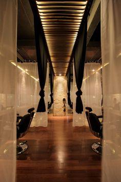 hair salon interior design, hair salons, small salon, salon idea, spa interior, hair treatments, spa design, hair salon design ideas, curtain