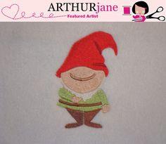 Gnome 1 No Mouth Embroidery Machine Pattern 4x4 by ARTHURjane, $3.99