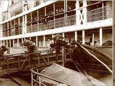 The last mail brought aboard Titanic was picked up at Queenstown, Ireland. Reportedly, one of the Titanic's luckier crew members jumped ship, sneaking off the vessel along with the mail bound for Ireland. Courtesy of the Fr. Browne S.J. Collection, The Irish Picture Library.