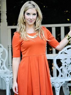 ON SALE TODAY ONLY!!! 12/16!  Orange Dress with Pleats - $21.75 : FashionCupcake, Designer Clothing, Accessories, and Gifts