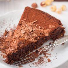 Gluten free chocolate hazelnut cake