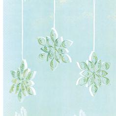 how to make filigree snowflakes