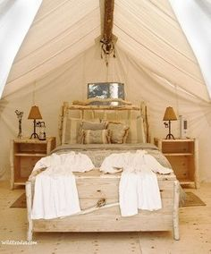 Glamping!  I think this is the only way I could handle the outdoors.