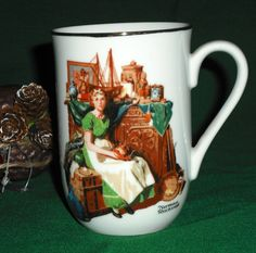Norman Rockwell Mug Cup  Dreams In The Antique by EauPleineVintage, $7.00