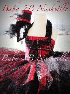 Holiday Dress Victorian Plaid Girls Tutu Dress by Baby2BNashville, $96.00