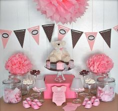 Decoración para un baby shower de niña | Fiesta101