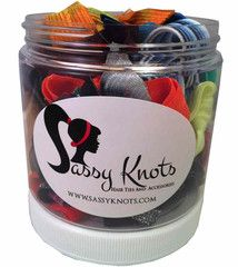 Jar full of your favorite hair ties