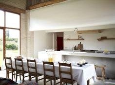 Belgian farm table, white tablecloth Heerlijkheid van Marrem Guesthouse in Belgium | Remodelista