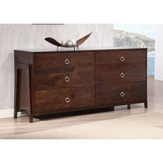 Kota Tobacoo Brown Six-drawer Dresser | Overstock.com